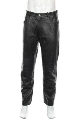 Pánské kožené kalhoty  Gipsy, Velikost M, Barva Černá, Pravá kůže, Cena  1499,00Kč