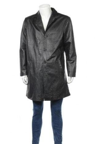 Мъжки кожен шлифер, Размер L, Цвят Черен, Естествена кожа, Цена 39,27лв.