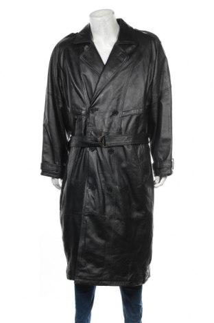 Pánský kožený přechodný kabát  Smooth, Velikost L, Barva Černá, Pravá kůže, Cena  1492,00Kč