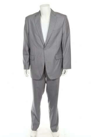 Ανδρικό κοστούμι, Μέγεθος XL, Χρώμα Γκρί, 85% πολυεστέρας, 15% βισκόζη, Τιμή 17,15€
