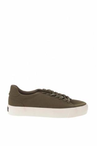 Ανδρικά παπούτσια Bershka, Μέγεθος 45, Χρώμα Πράσινο, Δερματίνη, Τιμή 16,88€
