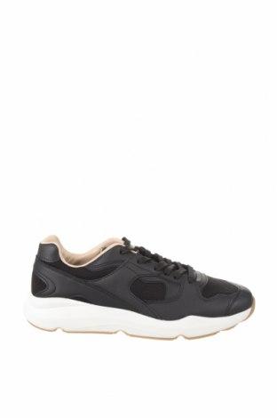 Ανδρικά παπούτσια Bershka, Μέγεθος 43, Χρώμα Μαύρο, Δερματίνη, κλωστοϋφαντουργικά προϊόντα, Τιμή 19,16€