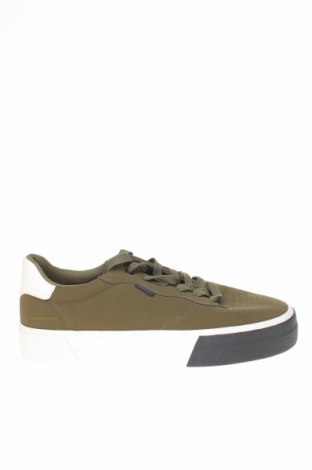 Ανδρικά παπούτσια Bershka, Μέγεθος 41, Χρώμα Πράσινο, Δερματίνη, Τιμή 17,54€