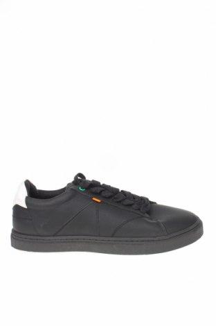 Ανδρικά παπούτσια Bershka, Μέγεθος 42, Χρώμα Μαύρο, Δερματίνη, Τιμή 19,16€