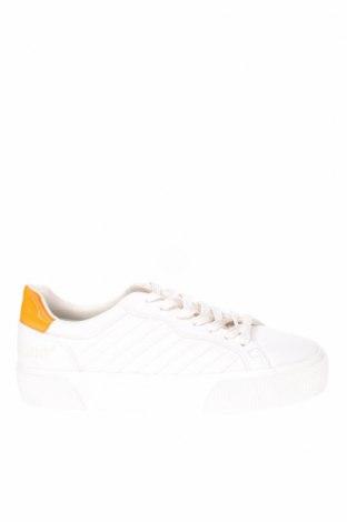 Ανδρικά παπούτσια Bershka, Μέγεθος 41, Χρώμα Λευκό, Δερματίνη, Τιμή 19,16€