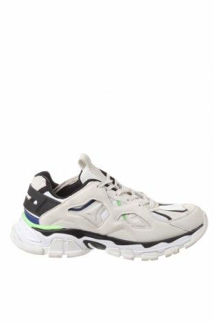 Ανδρικά παπούτσια Bershka, Μέγεθος 40, Χρώμα Λευκό, Δερματίνη, κλωστοϋφαντουργικά προϊόντα, Τιμή 14,94€