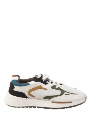 Ανδρικά παπούτσια Bershka, Μέγεθος 42, Χρώμα Λευκό, Δερματίνη, κλωστοϋφαντουργικά προϊόντα, Τιμή 15,91€