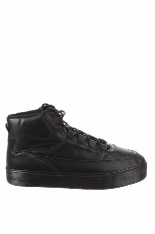 Ανδρικά παπούτσια Bershka, Μέγεθος 44, Χρώμα Μαύρο, Δερματίνη, Τιμή 19,16€