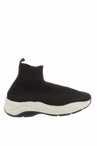Ανδρικά παπούτσια Bershka, Μέγεθος 44, Χρώμα Μαύρο, Κλωστοϋφαντουργικά προϊόντα, Τιμή 19,16€