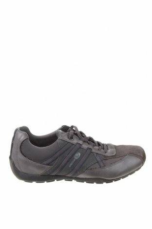 Încălțăminte bărbătească Geox, Mărime 42, Culoare Gri, Textil, piele ecologică, velur natural, Preț 165,29 Lei