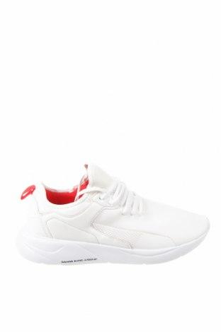 Мъжки обувки Pull&Bear, Размер 45, Цвят Бял, Текстил, еко кожа, Цена 26,55лв.