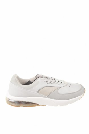 Мъжки обувки Pull&Bear, Размер 45, Цвят Сив, Еко кожа, текстил, Цена 44,25лв.