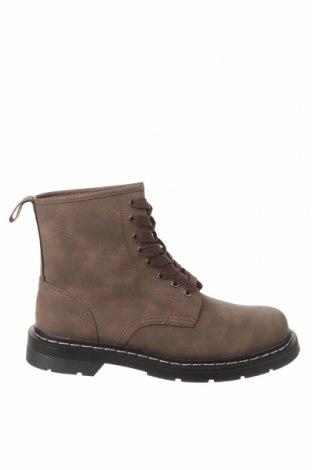 Ανδρικά παπούτσια Pull&Bear, Μέγεθος 42, Χρώμα Καφέ, Δερματίνη, Τιμή 16,98€