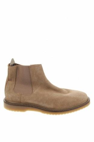 Мъжки обувки Zara, Размер 40, Цвят Бежов, Естествен велур, Цена 32,25лв.