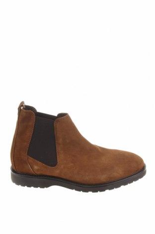 Мъжки обувки Zara, Размер 40, Цвят Кафяв, Естествен велур, Цена 34,75лв.