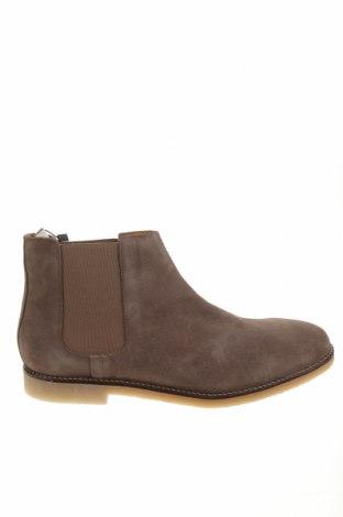 Ανδρικά παπούτσια Zara, Μέγεθος 45, Χρώμα Καφέ, Φυσικό σουέτ, Τιμή 38,64€