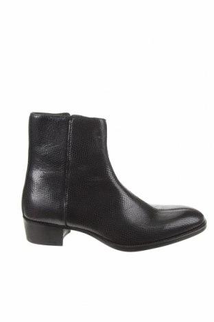 Ανδρικά παπούτσια Zara, Μέγεθος 39, Χρώμα Μαύρο, Γνήσιο δέρμα, Τιμή 48,45€