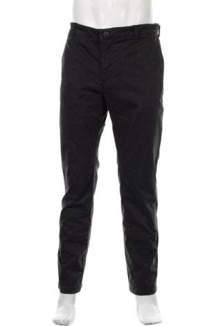 Pantaloni de bărbați, Mărime L, Culoare Negru, 98% bumbac, 2% elastan, Preț 54,74 Lei