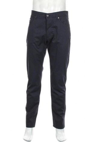 Pantaloni de bărbați Bugatti, Mărime M, Culoare Albastru, 96% bumbac, 4% elastan, Preț 373,03 Lei