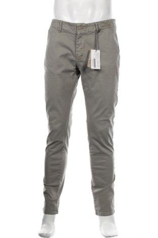 Pantaloni de bărbați Dreimaster, Mărime L, Culoare Verde, 97% bumbac, 3% elastan, Preț 175,66 Lei