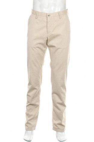 Pantaloni de bărbați Massimo Dutti, Mărime L, Culoare Bej, 98% bumbac, 2% elastan, Preț 175,66 Lei