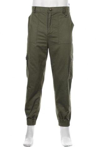 Pantaloni de bărbați Mo, Mărime L, Culoare Verde, Bumbac, Preț 136,18 Lei