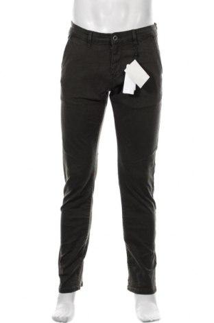 Pantaloni de bărbați Q/S by S.Oliver, Mărime M, Culoare Verde, 98% bumbac, 2% elastan, Preț 90,79 Lei
