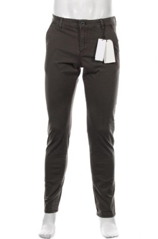 Pantaloni de bărbați Q/S by S.Oliver, Mărime M, Culoare Verde, 97% bumbac, 3% elastan, Preț 97,60 Lei