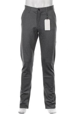 Pantaloni de bărbați Q/S by S.Oliver, Mărime L, Culoare Gri, 64% viscoză, 31% poliester, 5% elastan, Preț 125,89 Lei