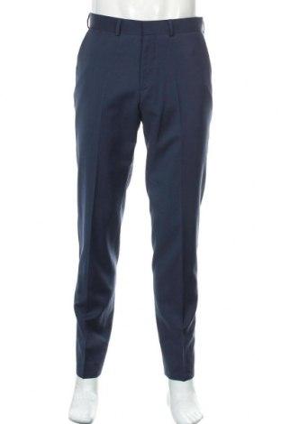Pantaloni de bărbați S.Oliver, Mărime M, Culoare Albastru, 98% lână, 2% elastan, Preț 148,75 Lei