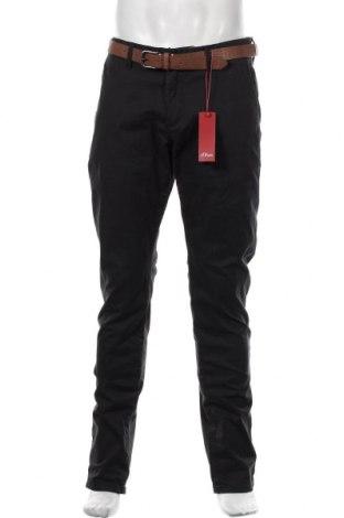 Pantaloni de bărbați S.Oliver, Mărime L, Culoare Albastru, 66% bumbac, 32% lyocell, 2% elastan, Preț 125,89 Lei