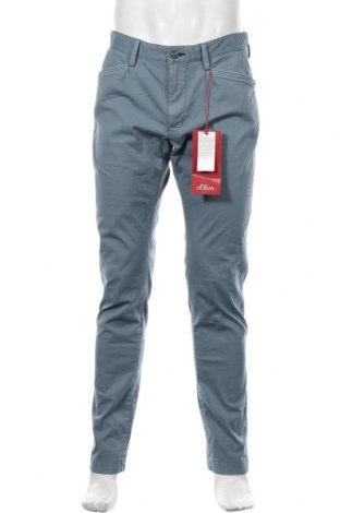 Pantaloni de bărbați S.Oliver, Mărime L, Culoare Albastru, 97% bumbac, 3% elastan, Preț 125,89 Lei