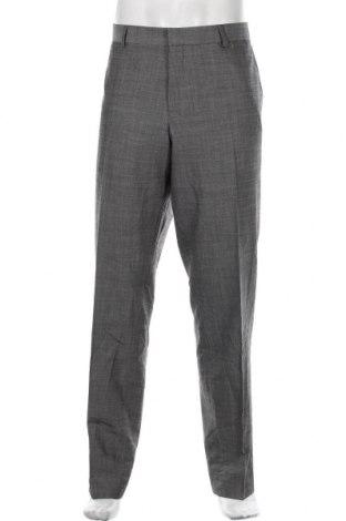 Pantaloni de bărbați S.Oliver, Mărime XL, Culoare Gri, 96% lână, 4% elastan, Preț 147,37 Lei