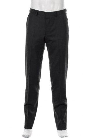 Pantaloni de bărbați S.Oliver, Mărime M, Culoare Gri, 52% poliester, 44% lână, 4% elastan, Preț 233,06 Lei