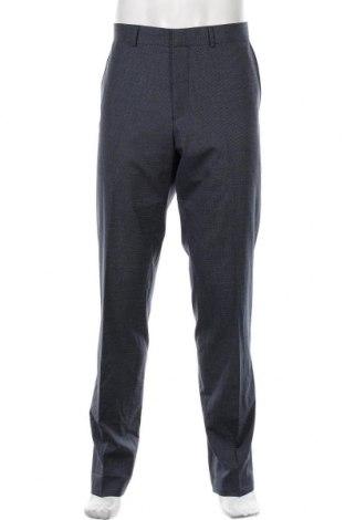 Pantaloni de bărbați S.Oliver, Mărime XL, Culoare Albastru, 54% poliester, 41% lână, 5% elastan, Preț 161,25 Lei