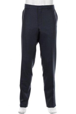 Pantaloni de bărbați S.Oliver, Mărime XL, Culoare Albastru, 54% poliester, 43% lână, 3% elastan, Preț 169,74 Lei