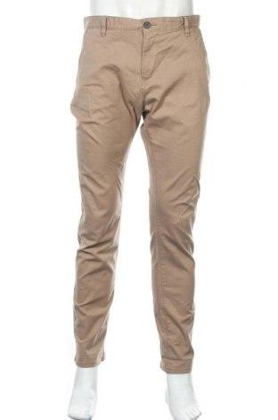 Мъжки панталон Tom Tailor, Размер L, Цвят Бежов, 98% памук, 2% еластан, Цена 36,75лв.