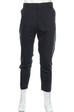 Pantaloni de bărbați Zara, Mărime L, Culoare Albastru, 54% bumbac, 43% poliester, 32% elastan, Preț 96,71 Lei