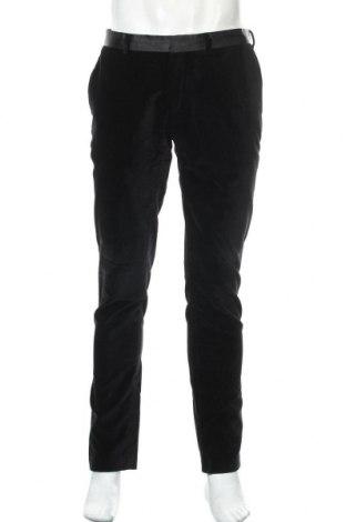 Мъжки панталон Zara Man, Размер L, Цвят Черен, 100% памук, Цена 40,50лв.
