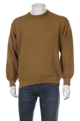 Ανδρικό πουλόβερ, Μέγεθος M, Χρώμα Κίτρινο, 50% μαλλί, 50%ακρυλικό, Τιμή 17,54€