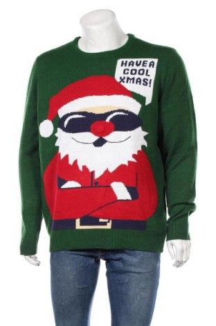 Ανδρικό πουλόβερ, Μέγεθος XL, Χρώμα Πράσινο, Πολυακρυλικό, Τιμή 16,89€