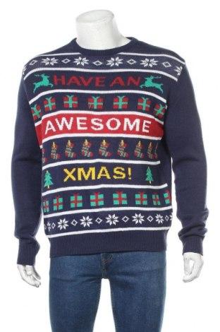 Ανδρικό πουλόβερ, Μέγεθος L, Χρώμα Μπλέ, Πολυακρυλικό, Τιμή 16,89€