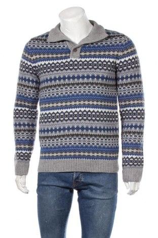 Мъжки пуловер Angelo Litrico, Размер M, Цвят Многоцветен, 86% акрил, 14% вълна, Цена 22,05лв.
