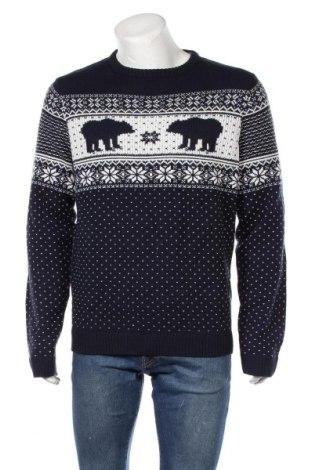 Мъжки пуловер Angelo Litrico, Размер L, Цвят Син, Акрил, Цена 17,75лв.