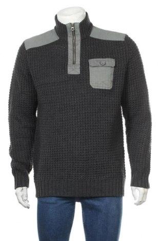 Ανδρικό πουλόβερ Bpc Bonprix Collection, Μέγεθος L, Χρώμα Γκρί, Πολυακρυλικό, βαμβάκι, Τιμή 21,43€