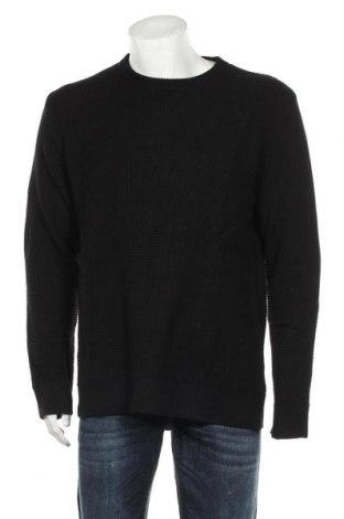 Мъжки пуловер H&M, Размер XL, Цвят Черен, 50% акрил, 50% памук, Цена 36,75лв.