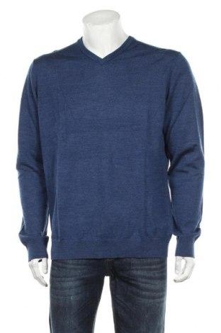 Pulover de bărbați H&M, Mărime XL, Culoare Albastru, Lână, Preț 85,53 Lei