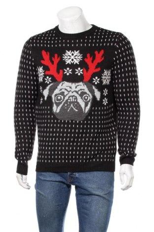 Ανδρικό πουλόβερ H&M Divided, Μέγεθος M, Χρώμα Μαύρο, 85%ακρυλικό, 15% μαλλί, Τιμή 20,13€