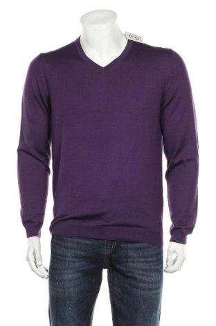 Ανδρικό πουλόβερ Hugo Boss, Μέγεθος L, Χρώμα Βιολετί, Μαλλί, Τιμή 57,15€