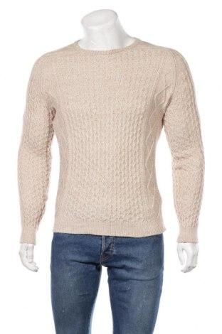 Ανδρικό πουλόβερ Massimo Dutti, Μέγεθος M, Χρώμα  Μπέζ, 88% βαμβάκι, 12% μαλλί, Τιμή 19,65€